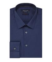 Elegancka granatowa koszula męska taliowana super slim fit 37