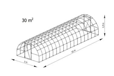Tunel foliowy mark 10x3 m