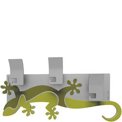 Wieszak ścienny dekoracyjny Gecko CalleaDesign cedrowo-zielony 54-13-2-51