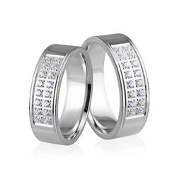 Obrączki srebrne - wzór ag-256