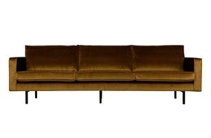 Be pure sofa trzyosobowa rodeo aksamitna miodowa 800543-14