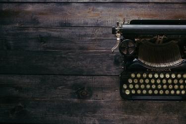 Fototapeta na ścianę maszyna do pisania na drewnianym stole fp 5085