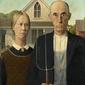 American gothic - plakat wymiar do wyboru: 59,4x84,1 cm