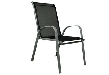 Krzesło ogrodowe, balkonowe w kolorze antracytowym