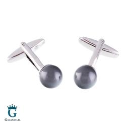Spinki do mankietów z szarą perłą swarovskiego x2 spc004