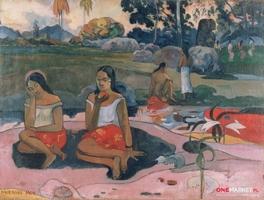 radość odpoczynku - paul gauguin ; obraz - reprodukcja
