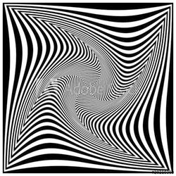 Naklejka samoprzylepna czarno-biała spirala