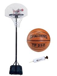 Zestaw kosz do koszykówki spartan przestawny + piłka tf-250 + pompka