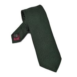 Elegancki zielony krawat VAN THORN z grenadyny garza grossa