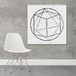 Art form geometry - designerski obraz na płótnie , wymiary - 50cm x 50cm