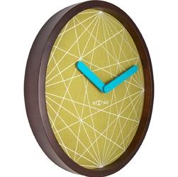 Zegar na ścianę calmer nextime brązowy, zielony 3204