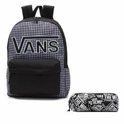 Plecak VANS Realm Flying V Backpack - Houndstooth BlackWhite | VN0A3UI8YER 006 + Piórnik