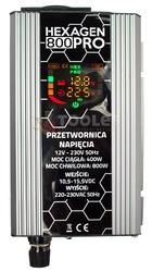 Przetwornica napięcia prądu hex pro 800 lcd 12v230v800w volt polska