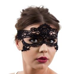 Maska koronkowa panieński bal ażurowa czarna - ażurowa