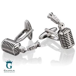 Spinki do mankietów x2 mikrofon