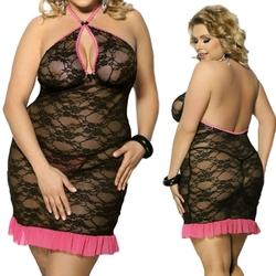 Sinopa black chemise  czarna halka  : rozmiar - xxxlxxxxl