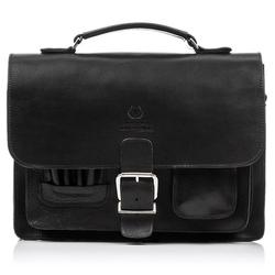 Plecak torba 2w1 skórzany paolo peruzzi s-12 czarny - czarny