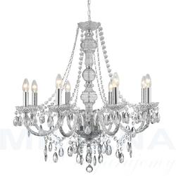 Marietherese lampa wisząca 8 chrom akryl