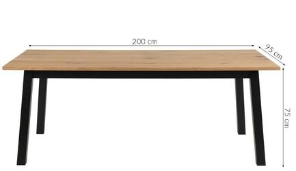 Stół do jadalni amelia dąb 200x95 cm