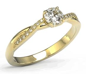 Pierścionek z żółtego złota z białym szafirem i brylantami bp-66z-sza-whid - żółte  szafir white