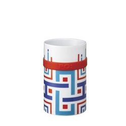 Kubek ring mug blue geometric 250 ml