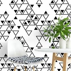 Tapeta na ścianę - geotriangles art , rodzaj - tapeta flizelinowa laminowana