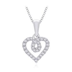 Staviori wisiorek. 28 diamentów, szlif brylantowy, masa 0,15 ct., barwa h, czystość si2. białe złoto 0,585. wymiary 10x9 mm. długość 15 mm.