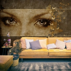 Fototapeta - kobieta i motyle