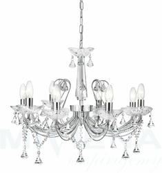 Lafayette lampa wisząca 8 chrom kryształ