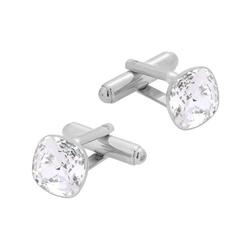 Spinki do mankietów z kryształami swarovski srebro pr. 925 025