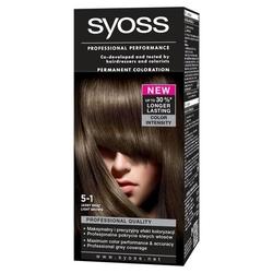 Syoss color, farba do włosów, 5-1 jasny brąz