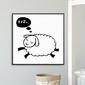 Sleepy sheep - plakat dla dzieci , wymiary - 90cm x 90cm, kolor ramki - biały