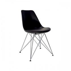 Nowoczesne krzesło do jadalni design czarne