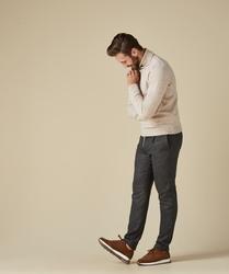 Sweter z golfem beżowy m