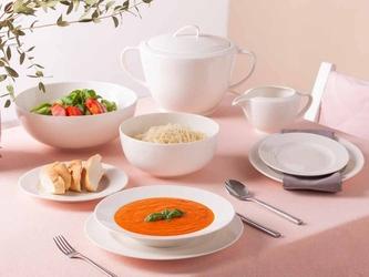 Serwis  zestaw obiadowy dla 6 osób porcelana mariapaula nova ecru 24 elementy