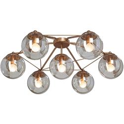 Lampa sufitowa złota klosze kule bursztynowe vitaluce ve4722-87pl