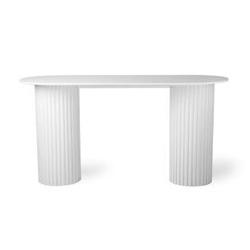 Hk living :: stolik pillar owalny biały