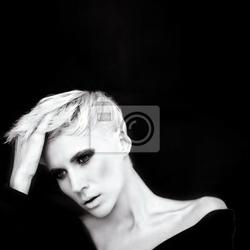 Obraz portret sensual dziewczyna na czarnym tle