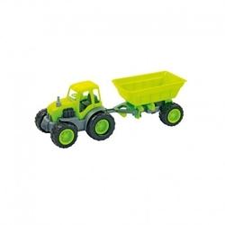 Traktor z przyczepą na gumowych kołach zielony mochtoys