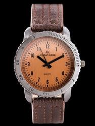 Brązowy Męski zegarek na pasku JORDAN KERR - 12823G zj063c