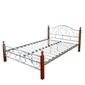 Łóżko metalowe podwójne 180 x 200 cm, stelaż