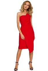 Czerwona sukienka wieczorowa bez rękawów