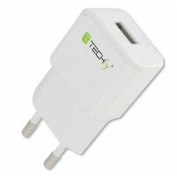 Techly Ładowarka sieciowa slim USB 5V 2.1A BIAŁA