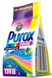 Purox Color , proszek do prania kolorowych tkanin, folia 10kg, 120 prań