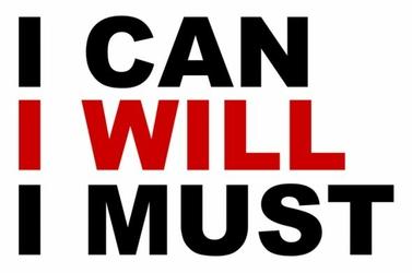 I can, I will, I must - plakat