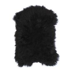 Hk living :: owcza skóra icelandic sheepskin 100x90cm - czarna