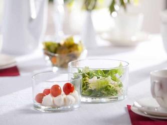 Salaterka  miseczka szklana edwanex, komplet 2 salaterek 17 cm i 20 cm