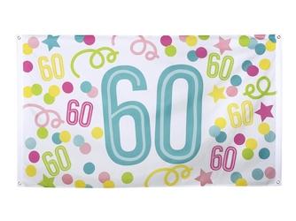 Flaga urodzinowa na sześćdziesiąte urodziny - 1 szt.