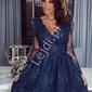 Granatowa koronkowa sukienka amelia