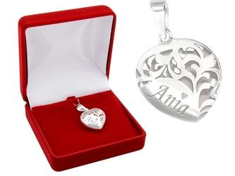 Wisiorek duże serce srebro 925 grawer